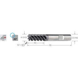 Schaftfräser ECOLINE, VHM lang mit Schutzfase Universal TiAlN