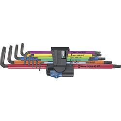 TORX®-Stiftschlüssel WERA, Satz, lang, farbmarkiert, mit Haltefunktion